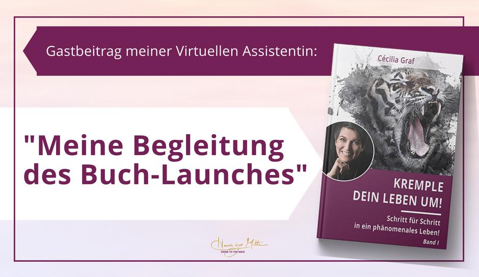 Gastbeitrag meiner VA: Meine Begleitung des Buch-Launches